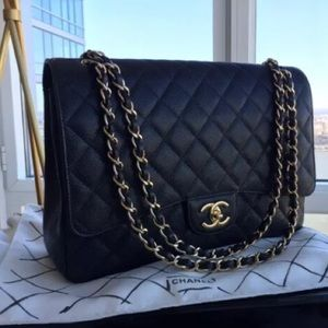 Chanel Classic Maxi Handbag - Quilted Leather
